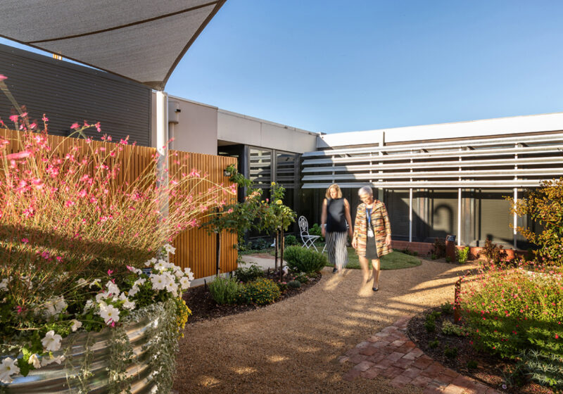 Goulburn Valley Health Therapeutic Courtyard
